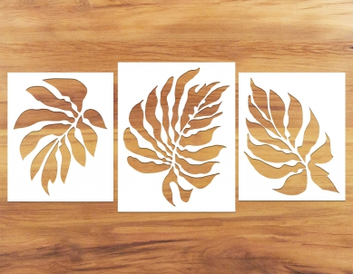 Nyle Leaves Paint Stencil