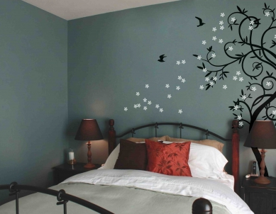 The Ent Tree Wall Sticker with Flowers