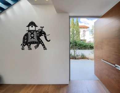 Indian Elephant Chariot ethnic wall sticker