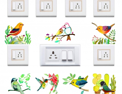 Birds & Branches Painting Art Switchboard Sticker