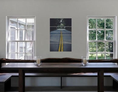 Vision of the Future New Beginning Road Wall Canvas Print