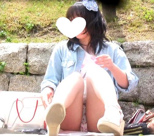 私服JC(座り3少女生P)