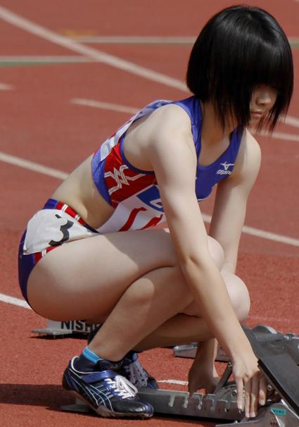 陸上競技大会の光景01