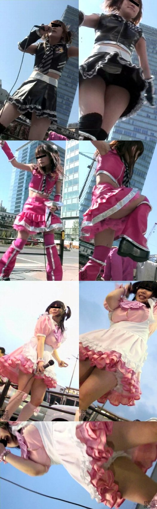 潜入地下アイドル フリーライブ最前張り付き映像01