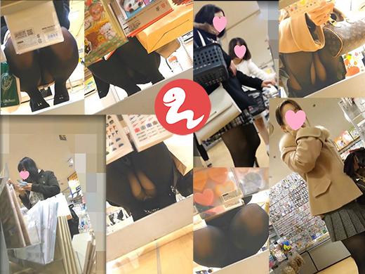 スマホ撮りシリーズ18【黒ストしゃがみ対面パンチラ7人】
