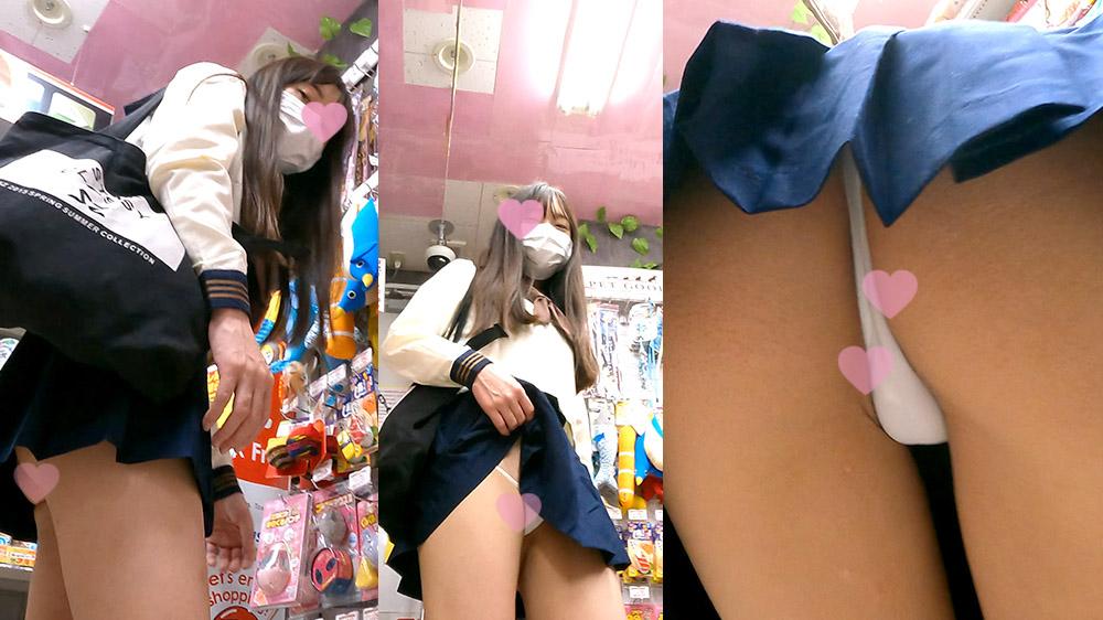 撮影バレからの見せつけ!にっこり笑顔でスカートめくってエロパンツ見せてくれる○K!_TPC-033のサンプル