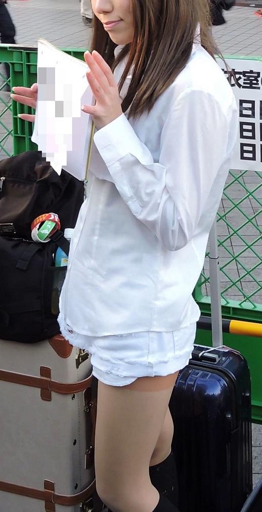 コスプレ2016冬白シャツに白のショーパンハイソックス【動画】イベント編 2959