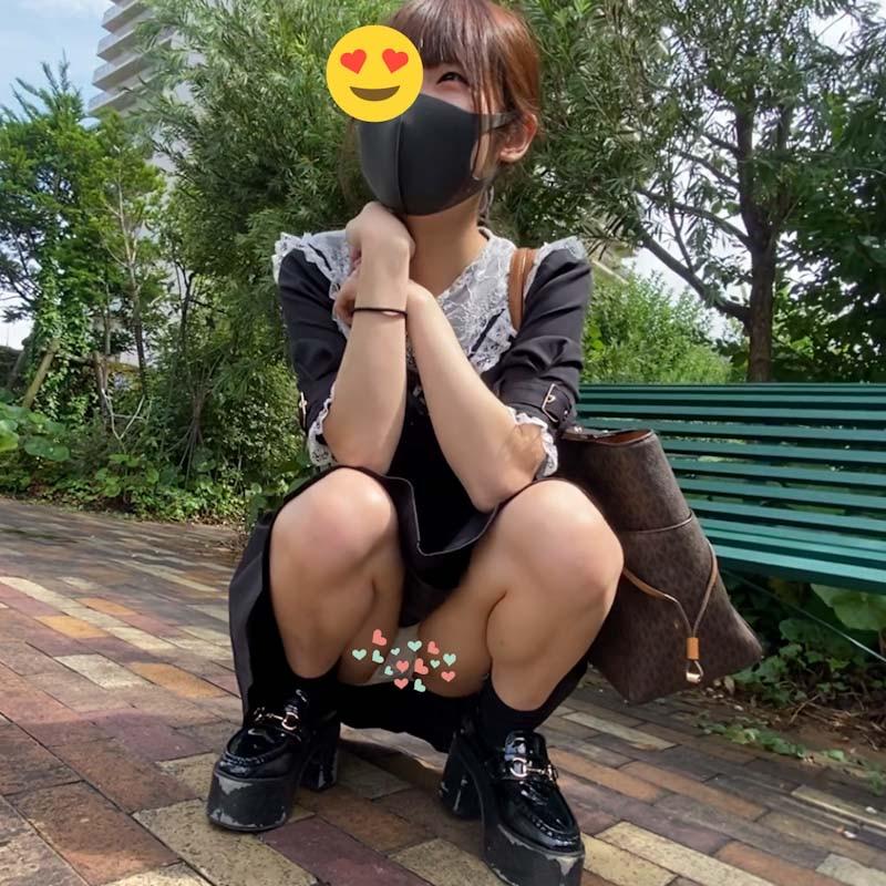 めちゃかわ量産型女子に頼みこんでパンツ撮らせてもらいました