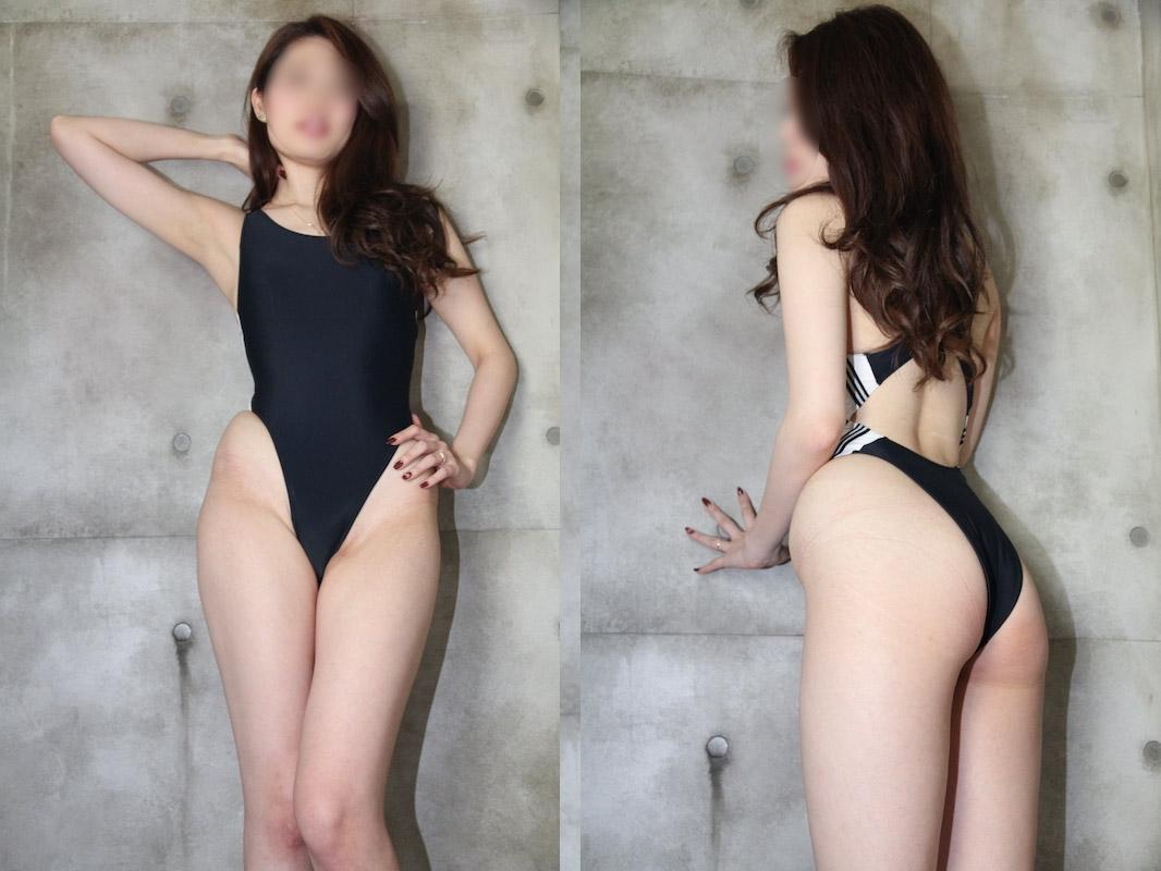 【写真】170cmオーバーのミス●ニバース級美女の極上ヒップと美脚のハイレグ競泳水着 高画質171枚