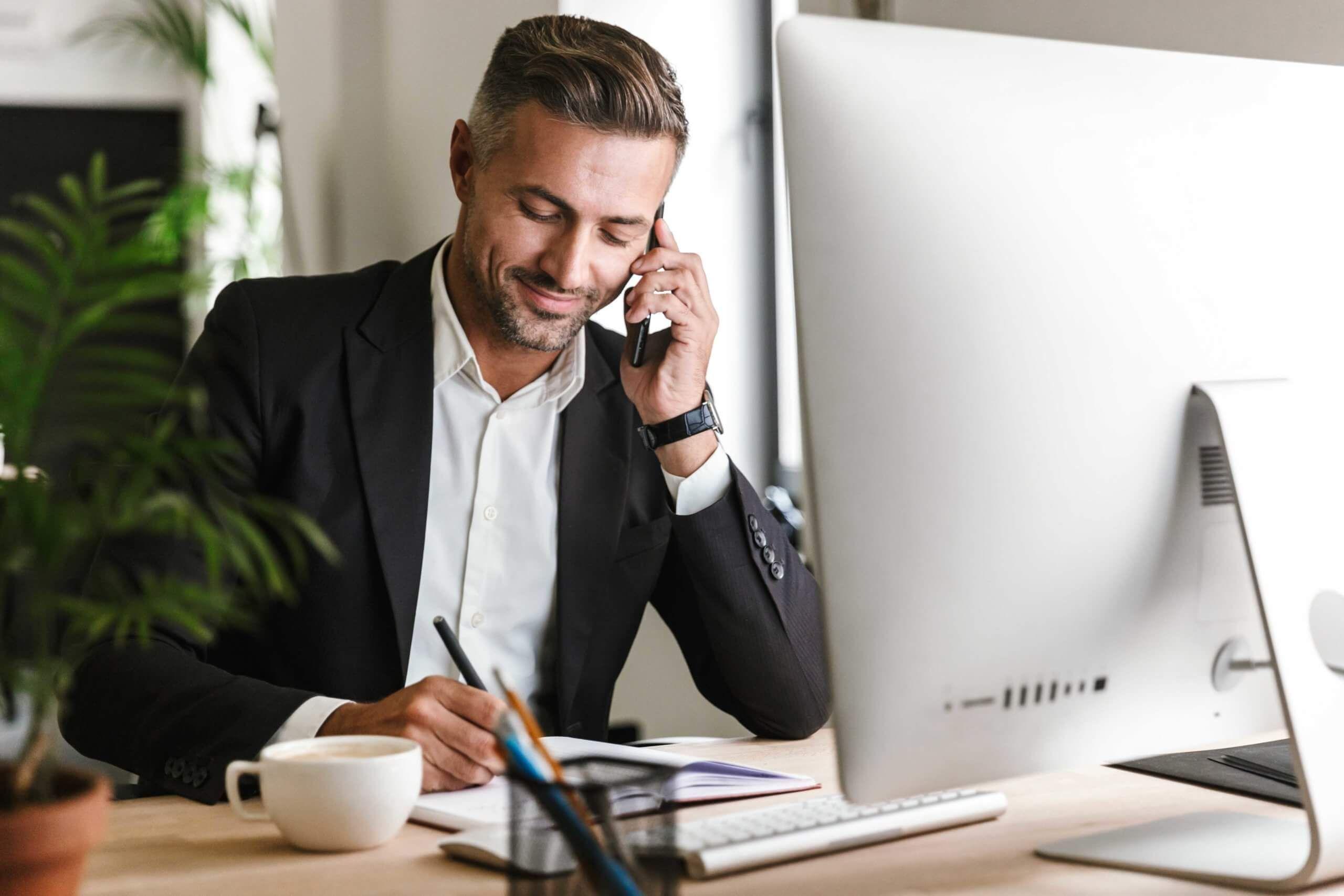 Échange téléphonique sur votre projet et notre concept illustation