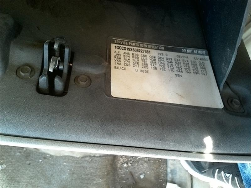 Chevrolet S10/S15/Sonoma Rear Axle Assembly | Used Truck Parts