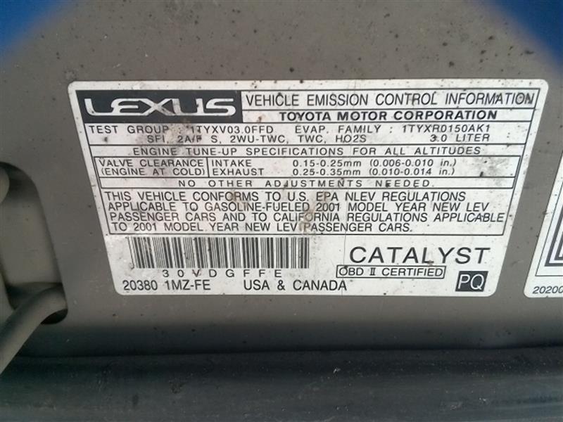 Spiksplinternieuw Lexus RX300 Fender | Used Auto Parts IX-75