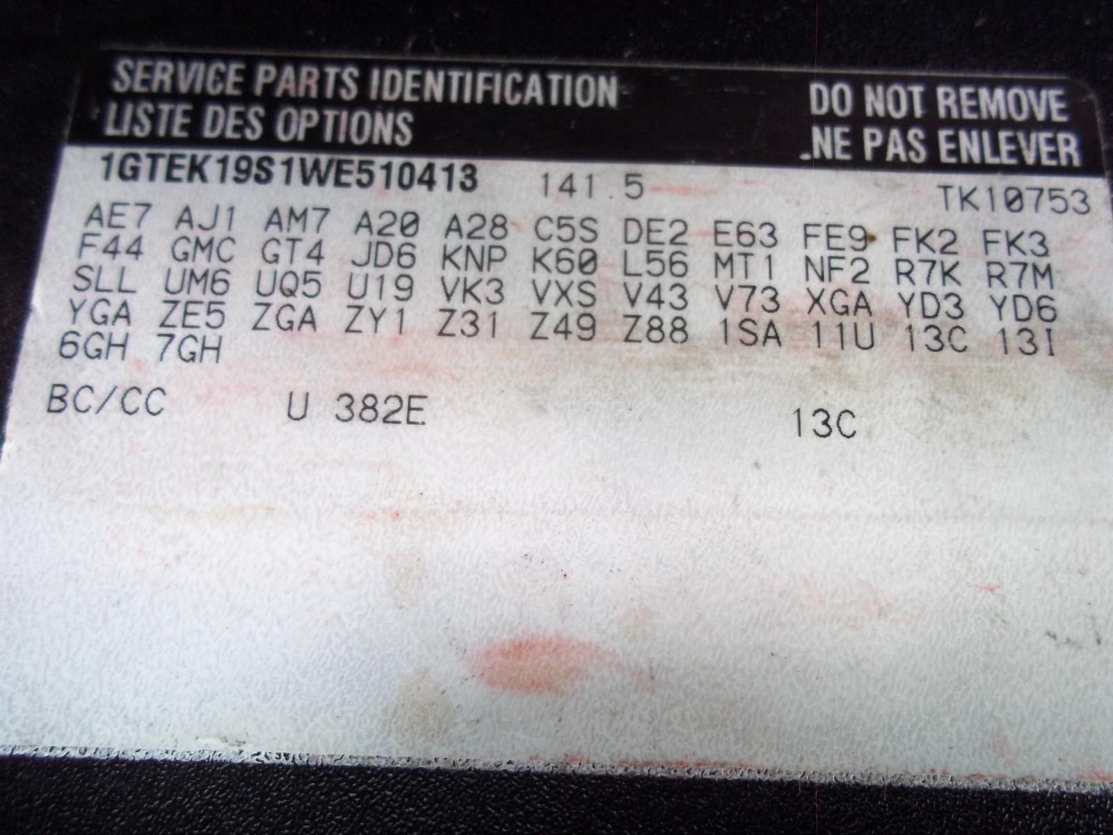 Gmc 1500 Pickup Front Seat Used Truck Parts