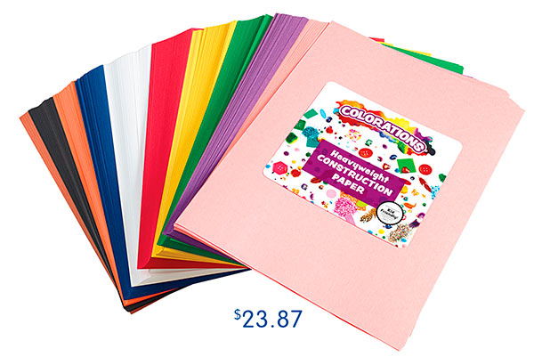 Colorations® 600 Sheets Construction Paper Smart Pack, $23.87