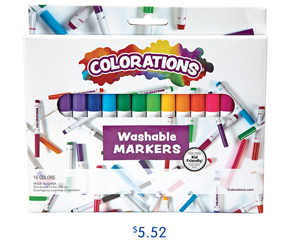 16 Colorations® Washable Classic Markers, $5.52