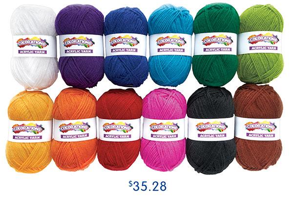 Colorations® Acrylic Yarn, $35.28