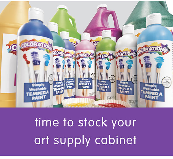 time to stock your art supply cabinet