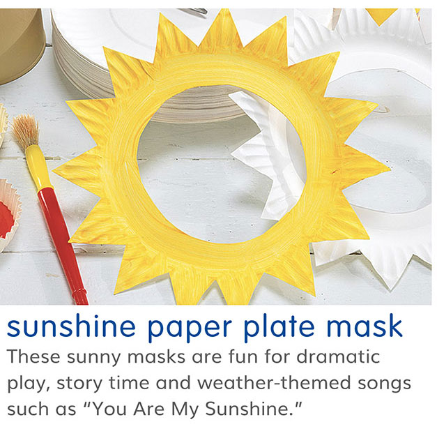 sunshine paper plate mask