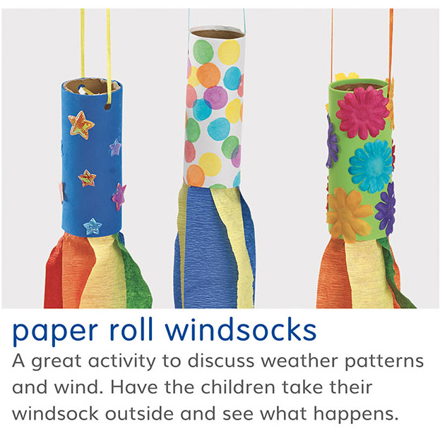 paper roll windsocks