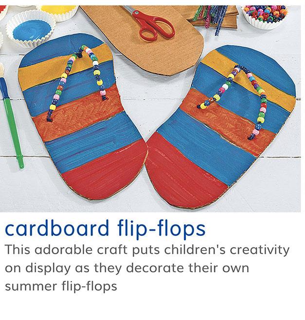 cardboard flip-flops
