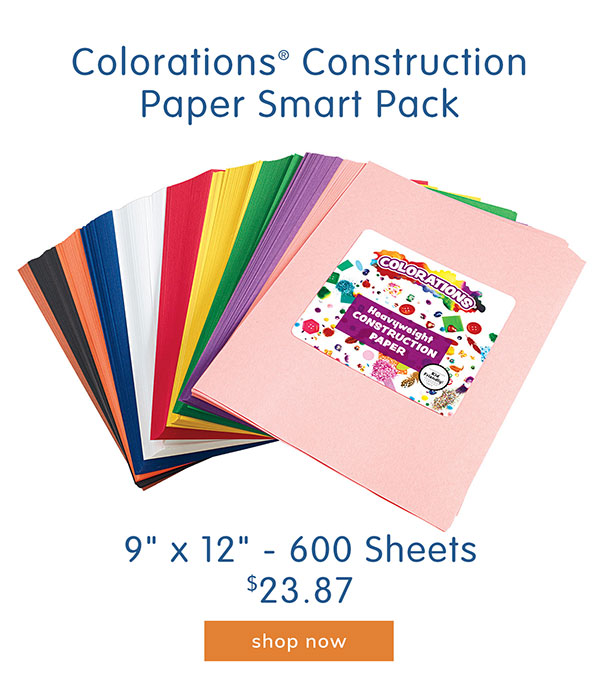 Colorations® Construction Paper Smart Pack, 9