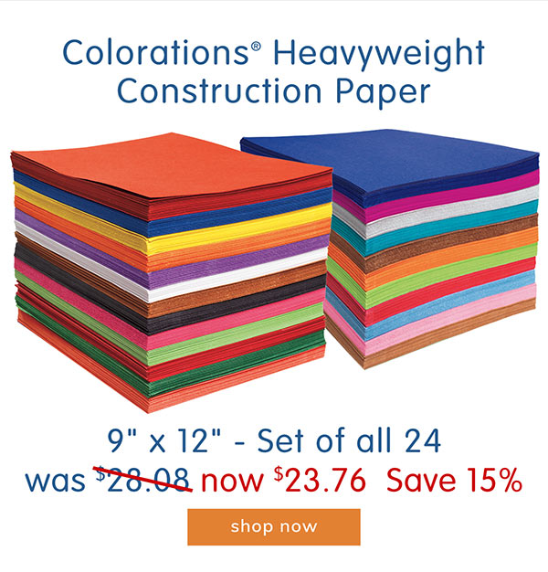 Colorations® Heavyweight Construction Paper, 9