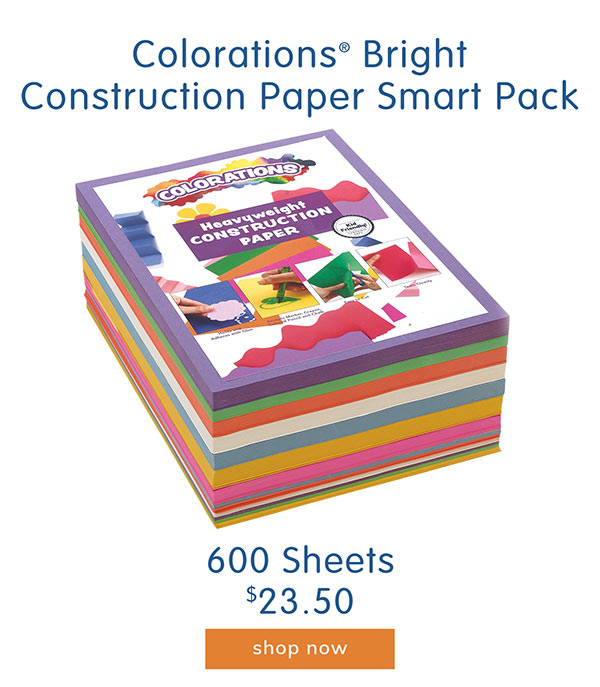 Colorations® Bright Construction Paper Smart Pack, 600 Sheets - $23.50