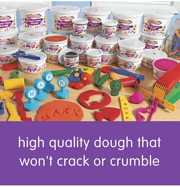high quality dough that won't crack or crumble