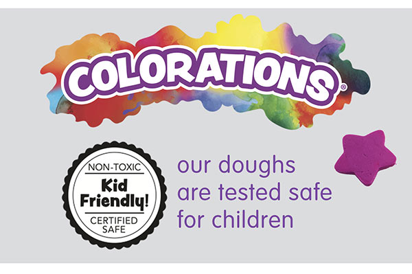 Colorations® Our doughs are tested safe for children.
