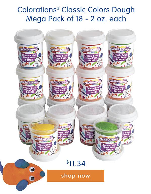 Colorations® Classic Colors Dough Mega Pack of 18 - 2 oz. each, $11.34