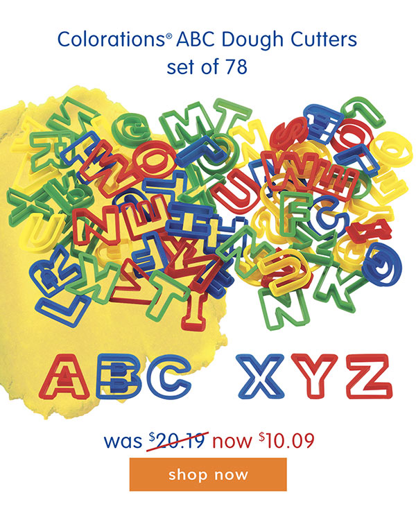 Colorations® ABC Dough Cutters set of 78 - was $20.19 now $10.09