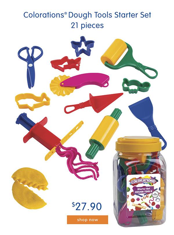 Colorations® Dough Tools Starter Set, 21 pieces, $27.90