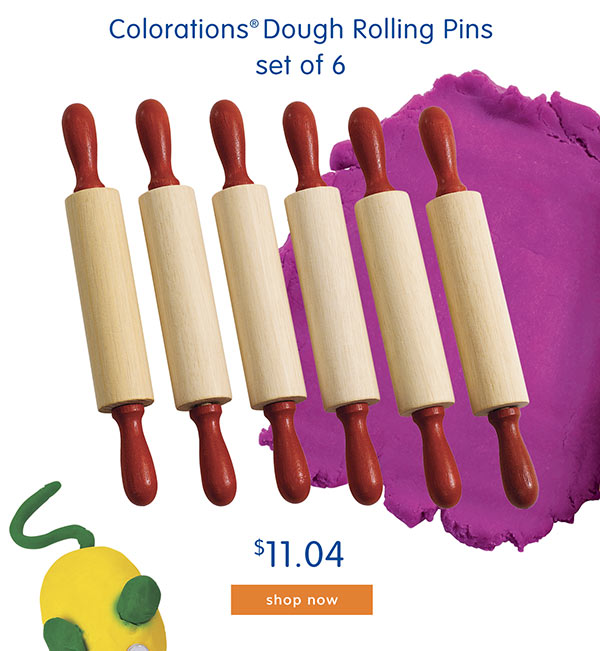 Colorations® Dough Rolling Pins, set of 6 - $11.04
