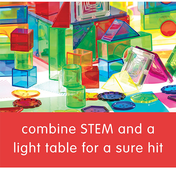combine STEM and a light table for a sure hit