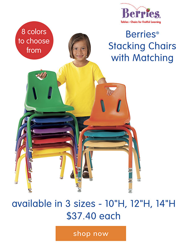 Berries® Stacking Chairs with Matching Legs - available in 3 sizes, $37.40 each