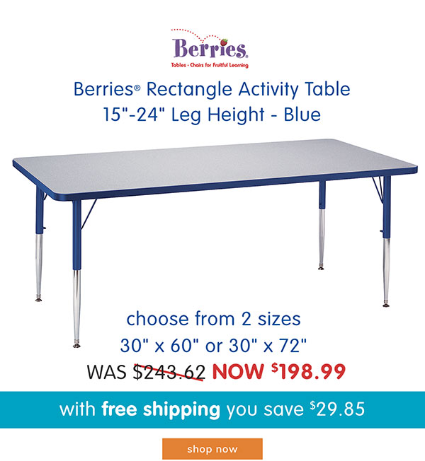 Berries® Rectangle Activity Table, 15