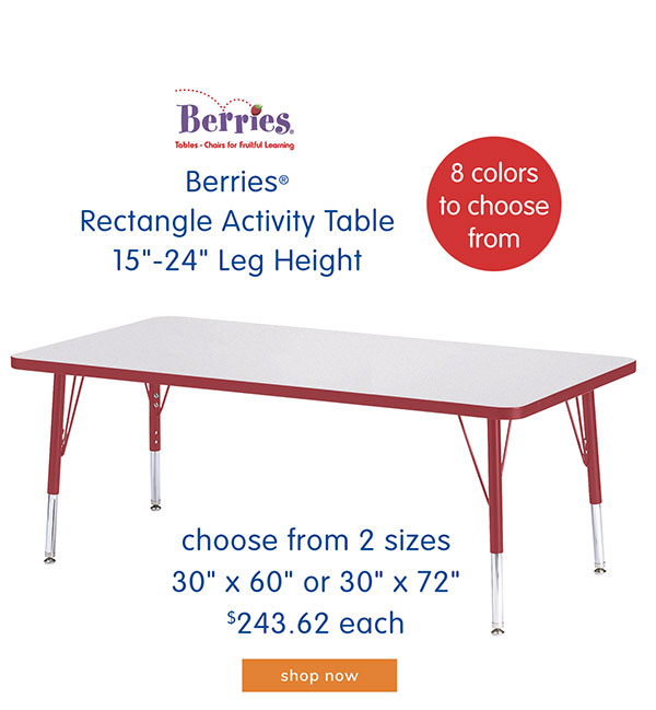 Berries® Rectangle Activity Table 15
