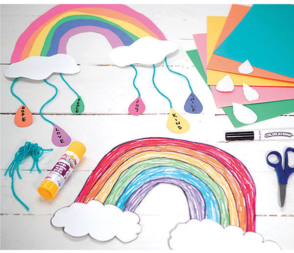 world kindness day free creative activity - 'rainbow of kindness mobile' tap to get started