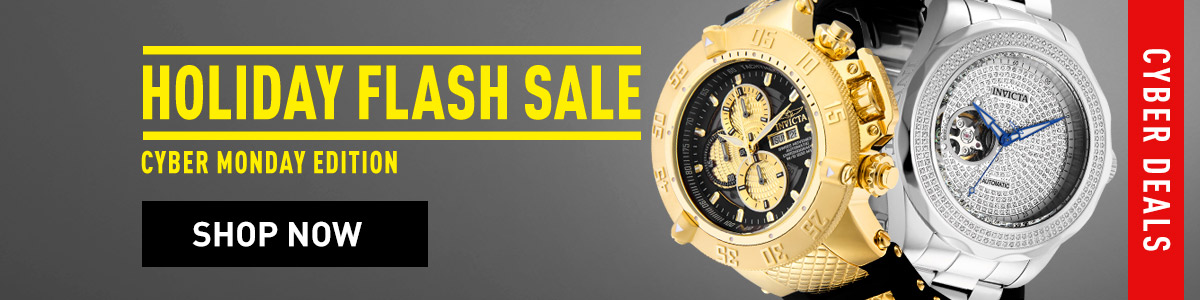 Invicta Holiday Flash Sale Cyber Monday Edition