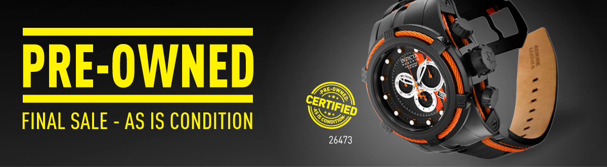 Pre-Owned Watches.  Final Sale - As is Condition