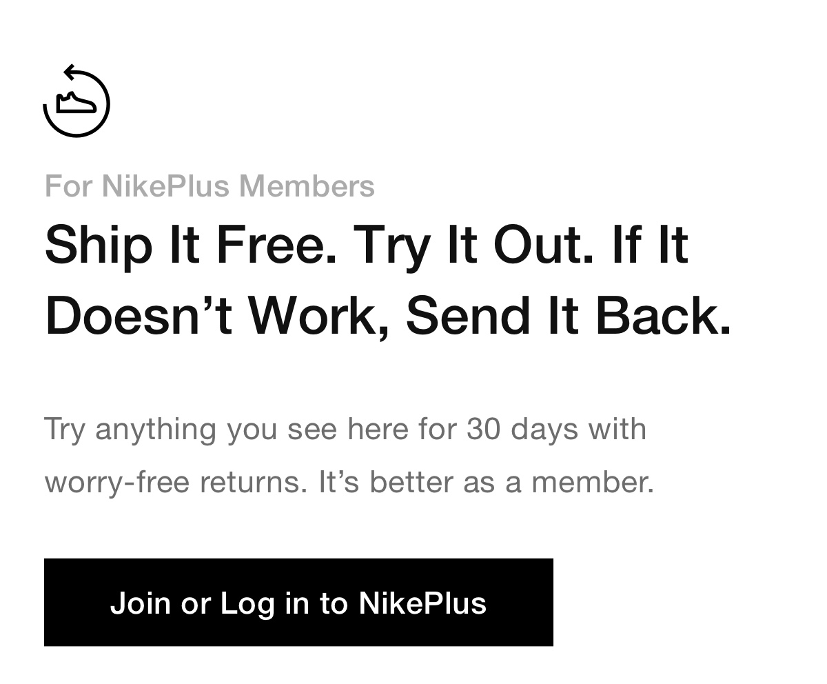 Join or Log in to NikePlus