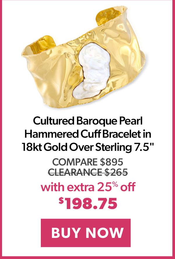 Pearl Hammered Cuff Bracelet. Buy Now