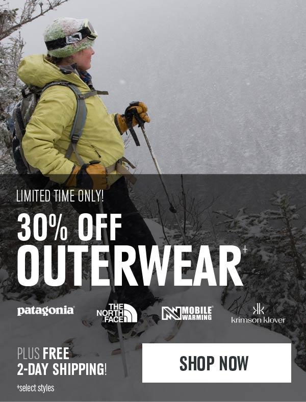 Up to 30% select styles of Outerwear - Shop Now