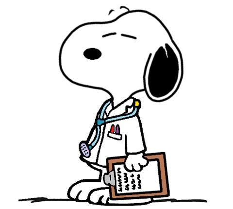 Ilustração do cachorro Snoopy, que tem um nome similar ao mnemônico SNNOOP10, feito para auxiliar na memorização das red flags das cefaleias