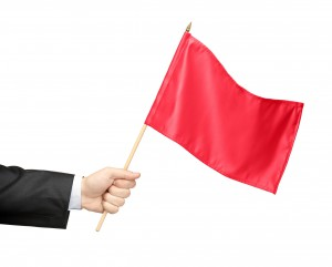 Imagem ilustrativa de red flag