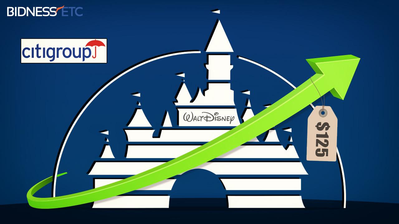 シティグループでのウォルト・ディズニー株価目標125ドルへ引き上げ