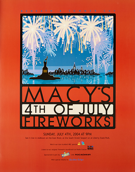 fireworks poster for year 2004