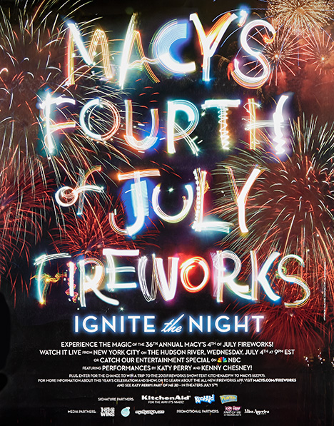 fireworks poster for year 2012