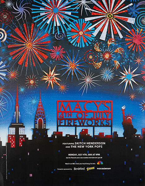 fireworks poster for year 2005