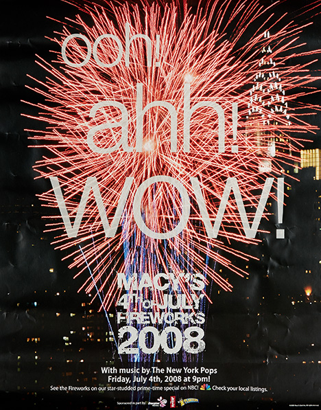 fireworks poster for year 2008